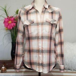 Gap Shirt Size Small Western Button Down Plaid